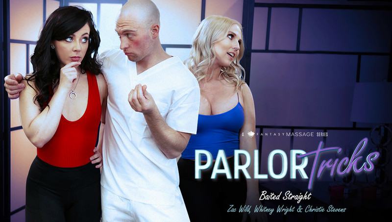 FantasyMassage – Christie Stevens, Whitney Wright – Parlor Tricks: Baited Straight